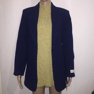 SALE Wool and cashmere admiral navy blue blazer